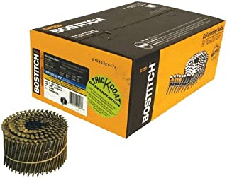 BOSTITCH C8R90BDG Thickcoat 2-1/2-Inch by .090-Inch 15 Degree Ring Shank Coil Siding Nail (3,600 per Box)