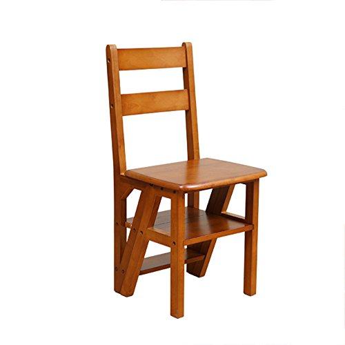 Brisk- Chaise d'escalier pliable en bois massif Ménage multifonction Chaise à manger Tabouret Tabouret d'escalier à double usage (Couleur : A)