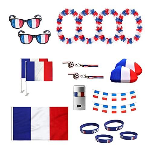 UMOI Frankreich Fanartikel Set zur Europameisterschaft 2021 WM, Fanmeile, Public Viewing, Olympia, Fußball (Set)