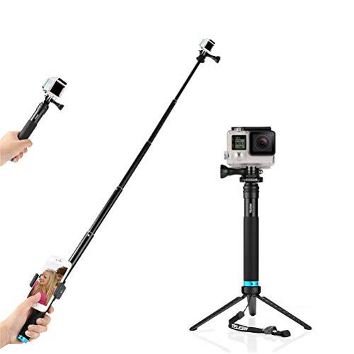 for GoPro Selfie Stick, Adjustable Extension Selfie Pole with Tripod Stand Waterproof Extension Pole for GoPro Accessories Hero 2018 7 6 5 4 3+ 3 2, Session, HD Came for iPhone/Galaxy Note/Huawei/Xia