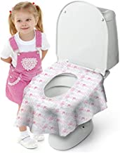 Cadily Princess Disposable Toilet Seat Covers for Kids & Adults: 40 X-Large, Waterproof, Portable, Individually Wrapped Toilet Seat Cover That Completely Covers Any Toilet