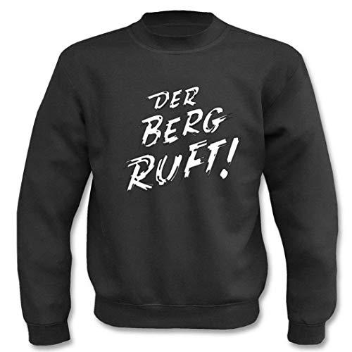 Textilhandel Hering Pullover - Der Berg Ruft! (Schwarz, XXL)