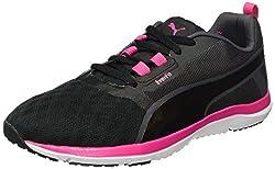 Puma Women's Pulse Flex XT FT WNS Indoor Shoes, Black Black-Periscope-Sharp Green 03, 41 EU