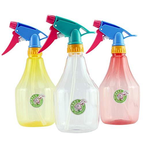 Sportstorm 600ml Portable Spray Bottle Refillable PE Fine Mist Empty Spray Sprayer Bottle Flower Spray Bottles Water, Kitchen, Bath, Beauty, Hair, and Cleaning (Random Color)(3PCS)