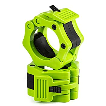 Fidyn Olympic Barbell Clamp Pro Training Quick Release Safety Collars Weight Lock Collar Clips Standard Weight Lifting 2 inches Olympic Weight Lifting Barbell Board Weightlifting Fitness Training