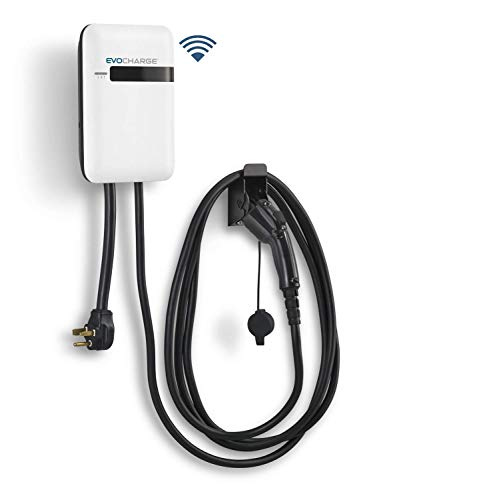 EVoCharge iEVSE, Level 2 WiFi Electric Vehicle Charging Station with 18 ft Cable, 240V 32A, UL Listed EV Charger, NEMA 6-50 Plug, Indoor/Outdoor Rated, Charge up to 8X Faster Than Level 1