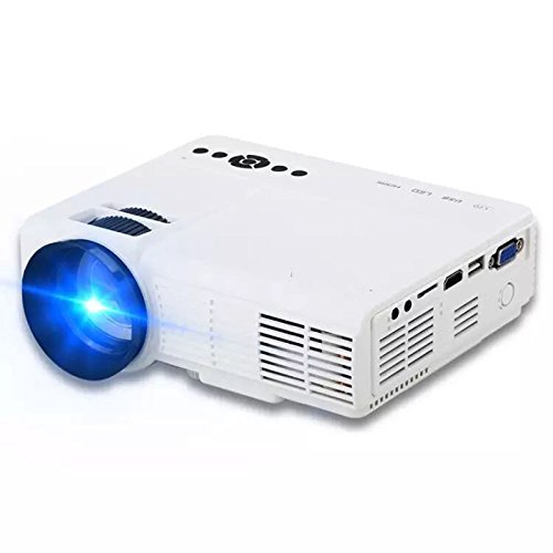 Projector, JIFAR New Update HD Multimedia Video Projector Huge Screen Portable LED Projector Support Up To HD 1080P Video HDMI VGA AV TF USB Input-White