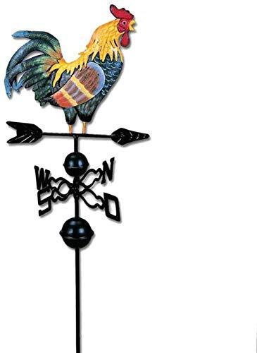 N/X Windrichtungsanzeiger,Wetterhahn Metall Wetterfahne -Traditioneller Farbiger Zeichnungs-Hahn-Wind - Van Garden Decoration