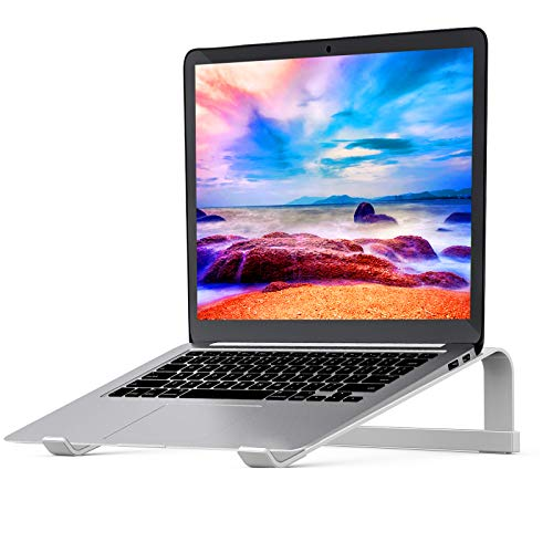 Laptop Stand for Desk,Stable MacBook Pro Stand,Ergonomic Aluminum Computer Riser for 12 13 15 16 17 inch ,Computer Cooling Stand for Mac MacBook Pro Air,HP, Dell, More PC Notebook(Silver)