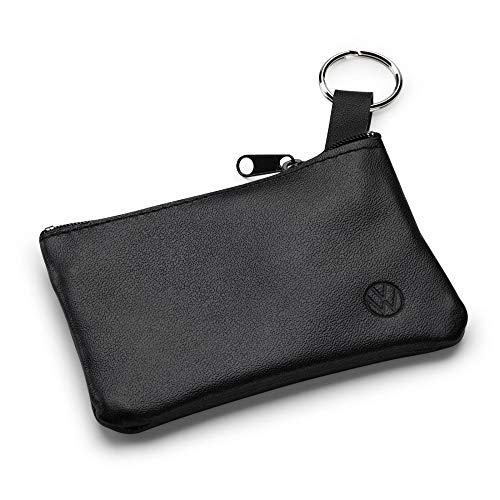 Volkswagen 000087402D Schlüsseltasche Etui Leder Schlüsselanhänger, mit neuem VW Logo, schwarz
