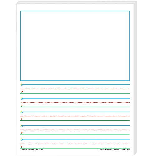 Teacher Created Resources 76541 Smart Start 1-2 Story Paper: 100 Sheets