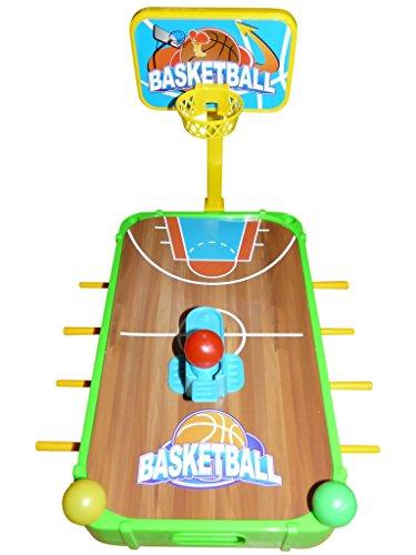 Seruna A140B Kinder-Spielzeug 5in1 Set, Tischfussball-Kicker Basket-Ball Golf EIS-Hockey Billard Geschenk-Idee Junge u. Mädchen Weihnacht-en Geburtstags-Geschenk