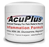AcuPlus Pain Relief Cream - Advanced Fast Acting, Long Lasting & Powerful Topical Pain Relief from Bursitis, Arthritis, Tendonitis, Joint Pain, Knee Pain, Back Pain and Muscle Ache (4 Ounces)