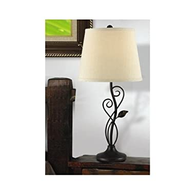 Cirrus Bronze Table Lamp Adds Accentual Curves and Lines to Any Room's Design.