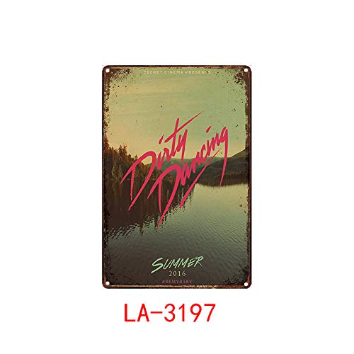Dirty Dancing Posters Metal Poster Plaque Metal Vintage Classic Movie Metal Tin Sign Wall Decor For Bar Iron Painting 20x30cm Black