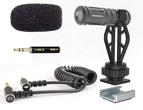 MiniGun Directional Video Microphone DREAMGRIP VLC-80, fine-Tuned for 1-3ft. Distance Voice Capturewith iPhone and Android, DSLR, incl. Extra Universal Gimbal Mount for DJI, Zhiyun, Other Gimbals