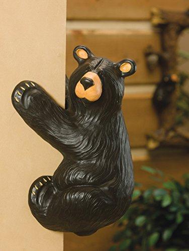 DEMDACO Climber Bear Grand Black Bear 18 x 11 Hand-cast Resin Figurine Sculpture
