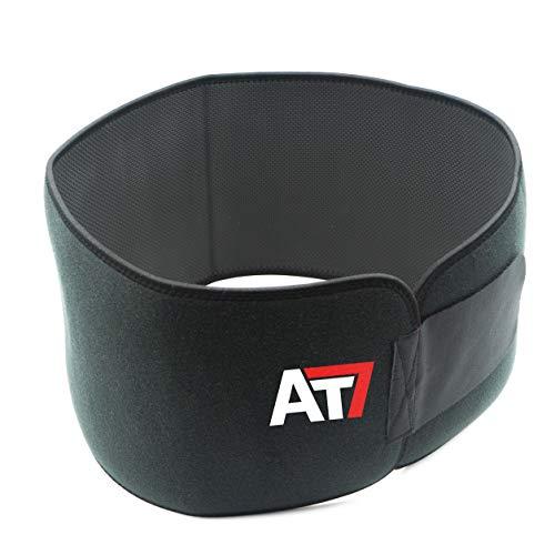 Austrian7 Schwitzgürtel Fitnessgürtel Bauchweggürtel zum Abnehmen durch Schwitzen, mit Klettverschluss zum Verstellen der Größen für Männer und Frauen, Neopren Sport Saunagürtel Bauchgürtel