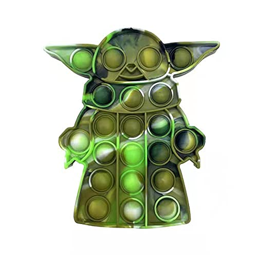 wenfenmaoyi N/A This Push Bubble pop Color Rodents Pioneer Decompression Toys Children's Mental Arithmetic Desktop 3D Cute and Cool Anime designEducational Toys (Camouflage Green)