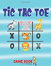 Tic Tac Toe Game Book For Kids: Travel Games for Kids, Over 1,200 Blank Paper Grid Games
