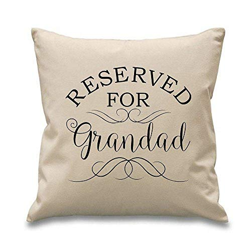 Yohoba Reserved For Grandad Cushion Covers Throw Pillow Case Covers 18'x18' Christmas Birthday