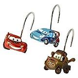 Kids Warehouse Lizenziertes Badaccessoires Shower Curtain Hooks Cars Pfeile