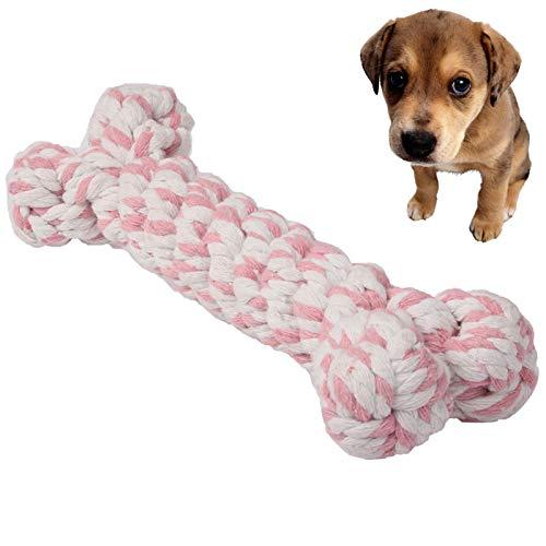 Ysswjzz Hondenspeelgoed, Kauwspeeltjes - Hond Puppy Huisdier Katoen Gevlochten Bot Touw Kauwknoop Speelgoed - Willekeurige Kleurlevering