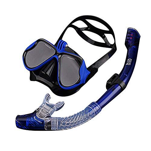 Snorkel voor duikmasker, panoramisch zicht tot 180 graden, anti-condens-ontwerp voor droog ademen, materiaal van voedselveilig silicone, zonder gevaar, niet giftig en zonder gevaar.