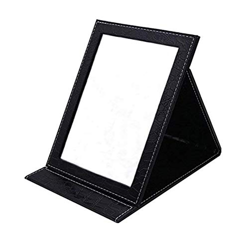 Oneuo Desktop Folding Mirror Portable Folding Vanity Mirror Tabletop Mirror with Stand for Cosmetics Personal Beauty Makeup Mirror