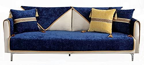 BEYRFCTA Funda de sofá de Universal para Sala de Estar Perros y Mascotas, Protector de Muebles Aplicar para Protector de Sofá, Love Seat y Sillón Individual -Blue_Pillow Set 45 * 45cm