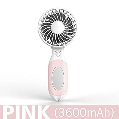 DeemoShop Summer Mini Portable Rechargeable Fan Air Cooler Operated Hand Held USB Battery Cute Fan Air Conditioner Cute Cartoon Fan