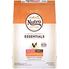 Contains one (1) 15 lb. bag of Nutro wholesome essentials Natural Adult Small Breed Dry Dog Food Farm-Raised Chicken, Brown Rice & Sweet Potato Recipe; Natural Dog Food Plus Vitamins, Minerals and Other Nutrients Farm-Raised Chicken Is The #1 Ingredi...