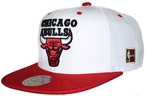 Mitchell & Ness Bulls Special Snapback – nostalgisches NBA HWC Chicago Bulls Logo, weiß/rot