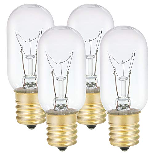 40W Microwave Oven Appliance Light Bulbs, Replacement for Most GE Whirlpool Microwave Light Bulbs, 120V E17 T8 Incandescent Light Bulbs, Dimmable Warm White Microwave Oven Bulbs 4 Pack