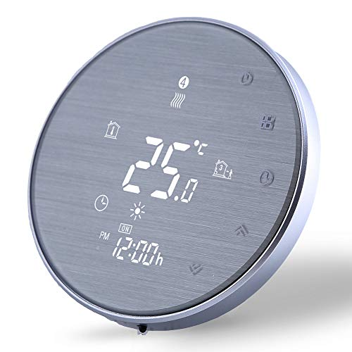 Termostato Digital Wifi para Calefacción Eléctrica funciona-Termostato Inteligente Programable Compatible con Alexa Google Home,Controlador de Temperatura 16A,220v