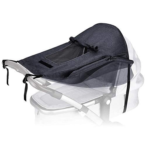 Vashye 1 parasol universal para cochecito de bebé, protección solar con ventana y alas anchas, protección UV.