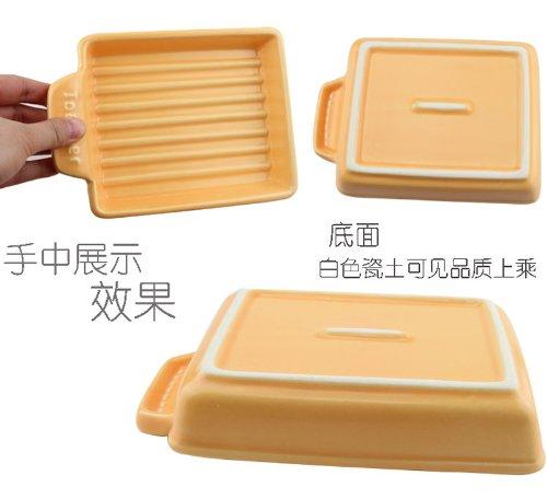 クリヤマケデップ『トースタープレートSウェーブイエロー(TO-022)』