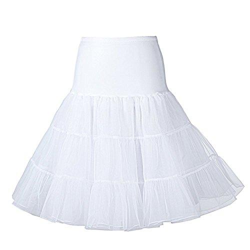 "Boolavard® TM 50er Jahre 26"" Petticoat Reifrock Unter Rock Unterrock Unterrock Reifrock Röcke Vintage Swing APPLELOVE"