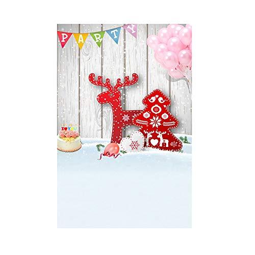 Preisvergleich Produktbild kingko Fotografie Hintergrund Holzwand Bunte Flagge Muster für Kinder Kinder Baby-Foto-Studio-Portrait Shooting 3x5FT Laterne Hintergrund Fotografie Studio (H)