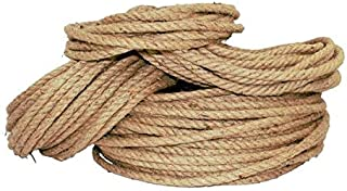 Twisted Jute Rope - SGT KNOTS - Thick Heavy Duty 3 Strand Jute Ropes - Strong All Natural Jute Fibers - Crafts & Crafting, Garden & Gardening, Bailing, Packing, Survival, Home Decor (1/4 in x 25 ft)