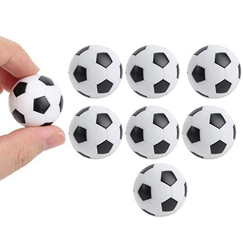 Jiawu Balones de fútbol de Mesa, 8 Piezas Mini balones de fútbol en Blanco y Negro Portátiles Mini balones de fútbol de Mesa Pelotas de fútbol de Mesa Fútbol para Accesorios de Juego de Mesa de