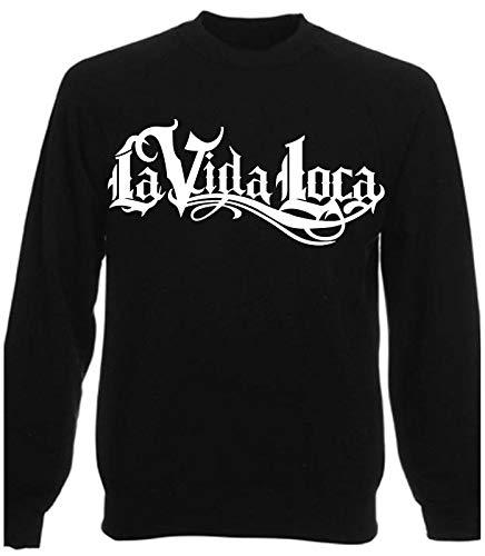 HR-WERBEDESIGN LA VIDA LOCA Pullover Sweatshirt - LA Familia Black Pearl Auto Motorrad MI Decal (L, Schwarz)