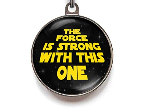 Wag-A-Tude Tags The Force is Strong with This One Pet Tag Custom Dog Tag Cat Tag (Small)