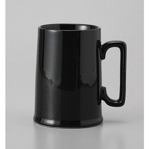 ビアジョッキ YKジョッキー黒 [8.3 x 11.3cc 375cc] 料亭 旅館 和食器 飲食店 業務用