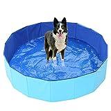 Ruick Piscine pliable en PVC pour chien