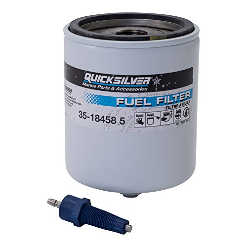 Quicksilver 18458Q4 Water Separating Fuel Filter Kit with Blue Water Warning Sensor
