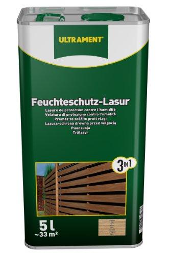 Ultrament Feuchteschutz-Lasur 3-in-1, teak, 5l