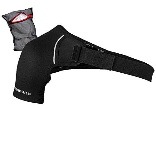 Rehband QD Shoulder Support Schulterbandage Unisex + Ziatec Wäschenetz, Größe:XL/Links, Farbe:Schwarz - 1 Stück