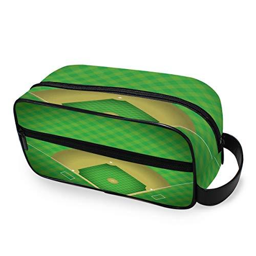 Baseball Field Organizer Tools Cosmetic Train Case Trousse de toilette Travel Storage Storage Makeup Bag