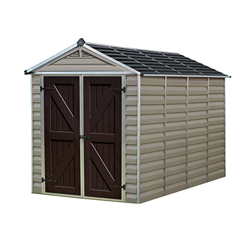 Palram SkyLight Storage Shed | 6' x 10' | Tan